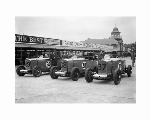 Talbot 105s of John Cobb and Tim Rose-Richards at the BRDC 500 Mile Race, Brooklands, 1931 by Bill Brunell