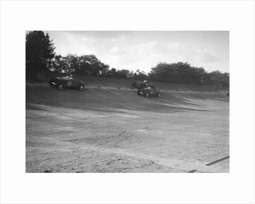 John Cobb and Tim Rose-Richards' Talbot 105s, BRDC 500 Mile Race, Byfleet Banking, Brooklands, 1931 by Bill Brunell
