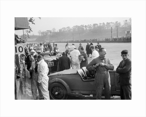 Tim Rose-Richards and John Cobb's Talbot 105 at the JCC Double Twelve race, Brooklands, May 1931 by Bill Brunell