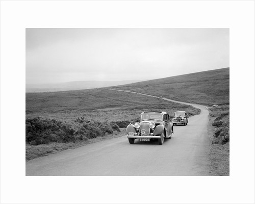 SS Stanley's Jaguar SS leading RS Mantle's Standard Flying 12 at the MCC Torquay Rally, July 1937 by Bill Brunell