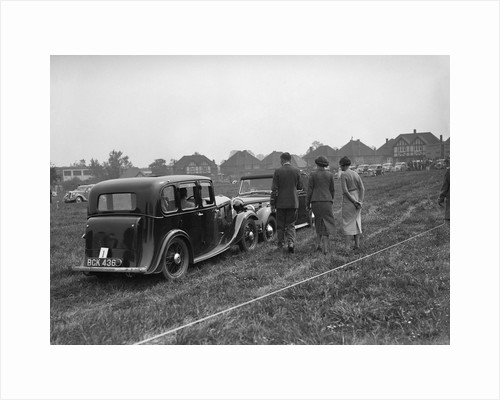 Standard Nine and Standard Flying Twelve at the Standard Car Owners Club Gymkhana, 8 May 1938 by Bill Brunell
