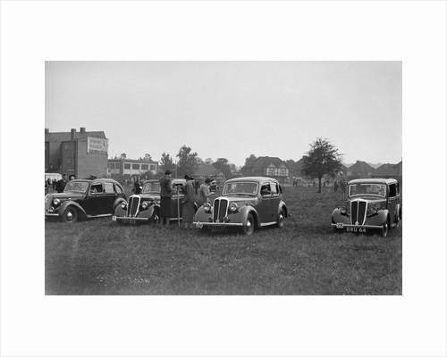 Two Standard Flying Twelves and a Flying Nine at the Standard Car Owners Club Gymkhana, 8 May 1938 by Bill Brunell