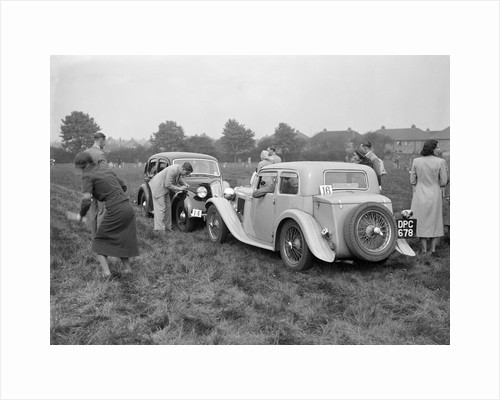 Standard SS II and Standard Flying Twelve at the Standard Car Owners Club Gymkhana, 8 May 1938 by Bill Brunell