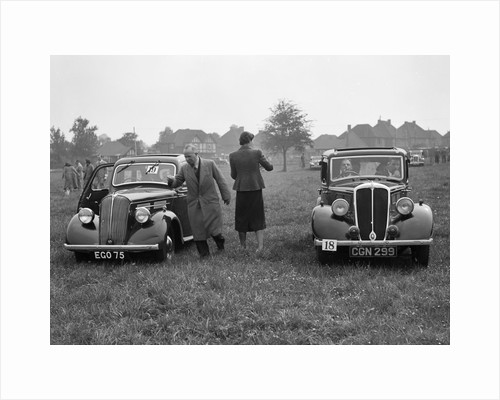 Standard Flying Ten and Standard Ten at the Standard Car Owners Club Gymkhana, 8 May 1938 by Bill Brunell