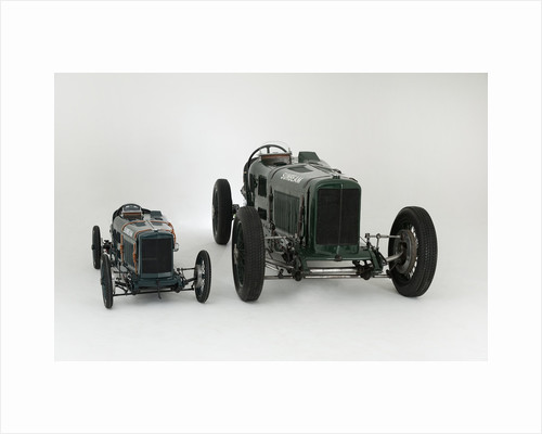 1924 Sunbeam Cub 2 litre with Sunbeam Cub Motorised child's pedal car replica by Unknown