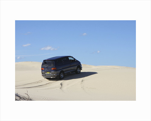 Mitsubishi Delica Space Gear V6 1996 in sand dunes New South Wales Australia by Unknown