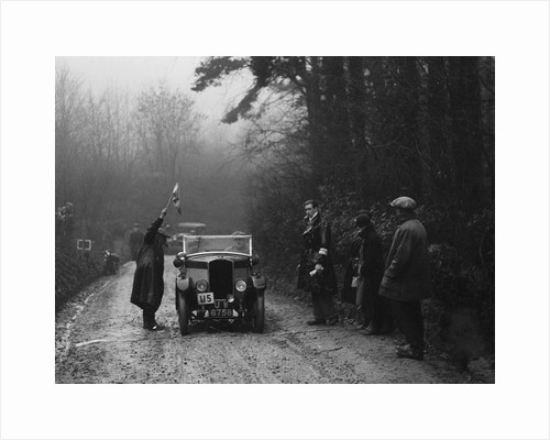 Triumph of J Wallis competing in the MCC Exeter Trial, 1930 by Bill Brunell