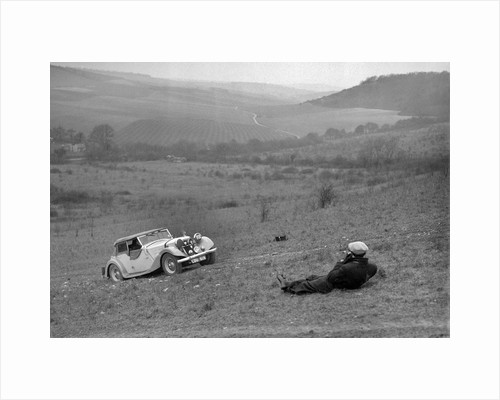Riley 16 competing in the London Motor Club Coventry Cup Trial, Knatts Hill, Kent, 1938 by Bill Brunell