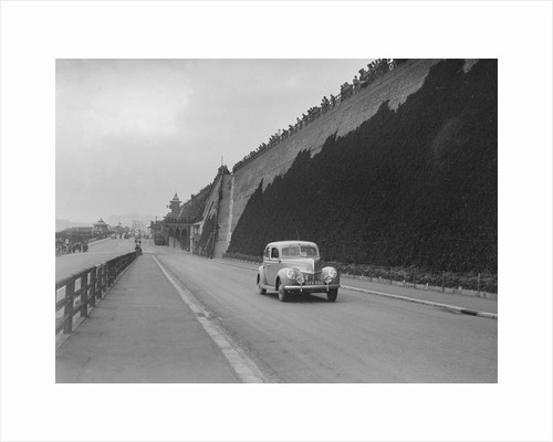 Ford V8 of CGH Barraclough on Madeira Drive, Brighton, RAC Rally, 1939 by Bill Brunell