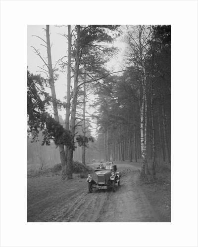 GWK taking part in the JCC General Efficiency Trial, Oxshott Woods, Surrey, 1923 by Bill Brunell