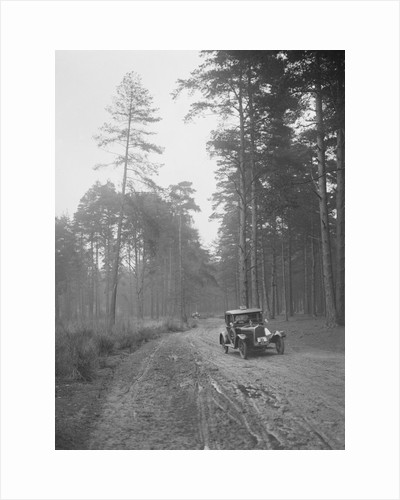 Cecil Randall's Talbot taking part in the JCC General Efficiency Trial, Oxshott Woods, Surrey, 1923 by Bill Brunell