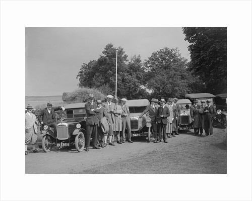 GWK cars at a demonstration event at Frensham Pond Hotel, Surrey, 1922 by Bill Brunell
