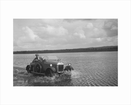 HG Pope driving a GWK through water at a demonstration event, Frensham Common Pond, Surrey, 1922 by Bill Brunell