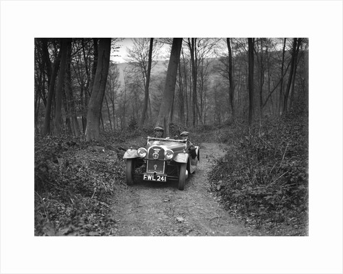 Morgan 4/4 at the Standard Car Owners Club Southern Counties Trial, Hale Wood, Chilterns, 1938 by Bill Brunell