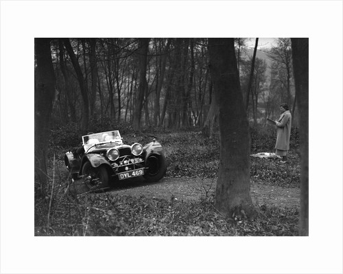 Jaguar SS100 at the Standard Car Owners Club Southern Counties Trial, Hale Wood, Chilterns, 1938 by Bill Brunell