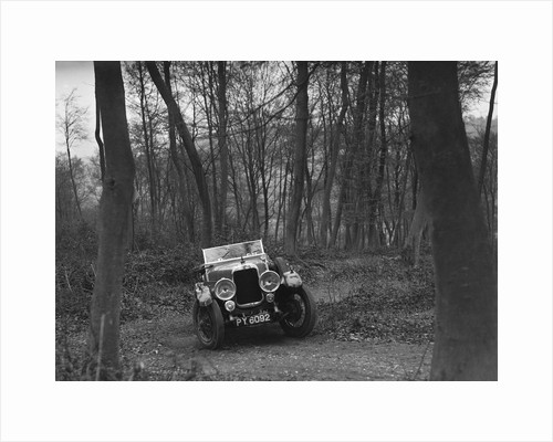 Alvis 12/50 at the Standard Car Owners Club Southern Counties Trial, Hale Wood, Chilterns, 1938 by Bill Brunell