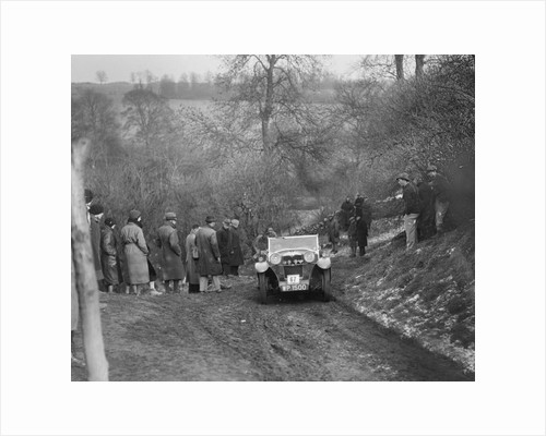 Riley Lynx of RC Player competing in the Sunbac Colmore Trial, Gloucestershire, 1933 by Bill Brunell