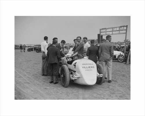 Raymond Mays' Vauxhall-Villiers at a sand racing event, c1930s by Bill Brunell