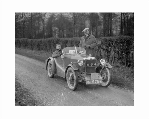 MG M Type, official's car at the MG Car Club Trial, 1931 by Bill Brunell