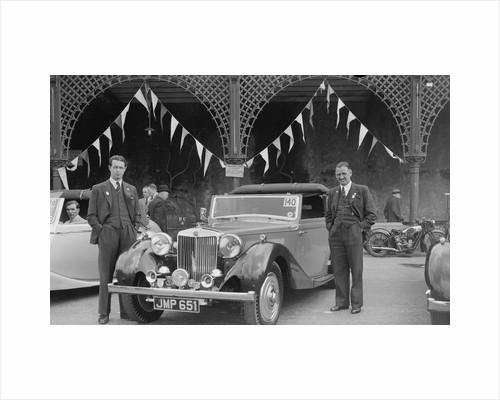 MG SA of DJ Farqaharson at the RAC Rally, Madeira Drive, Brighton, 1939 by Bill Brunell