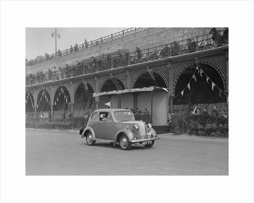 Vauxhall 10 of Miss IM Burton at the RAC Rally, Madeira Drive, Brighton, 1939 by Bill Brunell