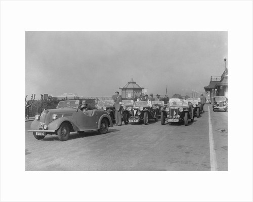 Standard Flying 8 of JB Murrell at the RAC Rally, Madeira Drive, Brighton, 1939 by Bill Brunell
