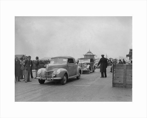 Ford V8 drophead of DB Hall at the RAC Rally, Madeira Drive, Brighton, 1939 by Bill Brunell