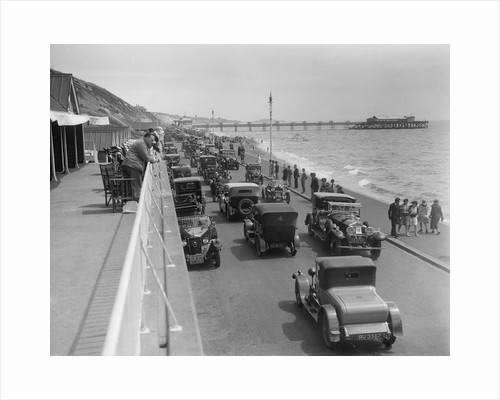 Cars on Undercliff Drive, Bournemouth, Bournemouth Rally, 1928 by Bill Brunell