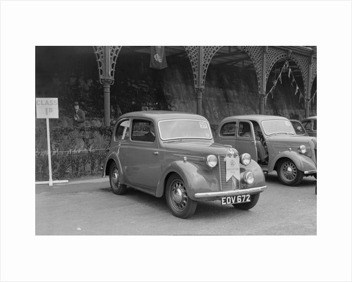 Austin 8 of CD Buckley at the RAC Rally, Madeira Drive, Brighton, 1939 by Bill Brunell