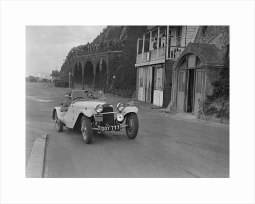 HRG of MH Lawson competing in the RAC Rally, Madeira Drive, Brighton, 1939 by Bill Brunell