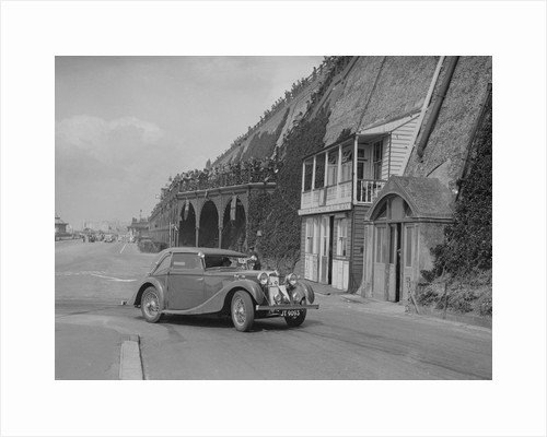 MG VA Tickford tourer of Lilian Roper competing in the RAC Rally, Madeira Drive, Brighton, 1939 by Bill Brunell