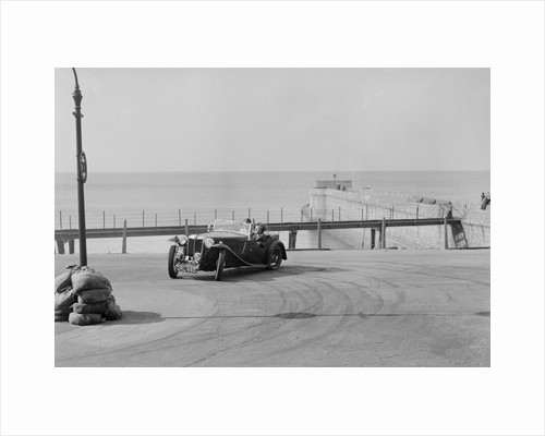 MG TA of FG Cornish competing in the RAC Rally, Madeira Drive, Brighton, 1939 by Bill Brunell
