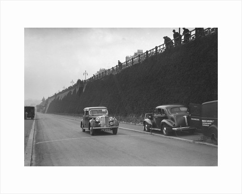Rover saloon of A Corrie competing in the RAC Rally, Madeira Drive, Brighton, 1939 by Bill Brunell