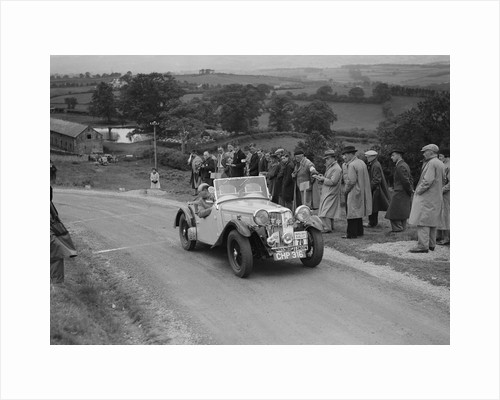 Singer B37 1.5 litre sports of DE Harris competing in the South Wales Auto Club Welsh Rally, 1937 by Bill Brunell