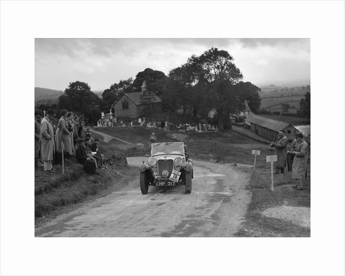 Singer B37 1.5 litre sports of WC Butler competing in the South Wales Auto Club Welsh Rally, 1937 by Bill Brunell