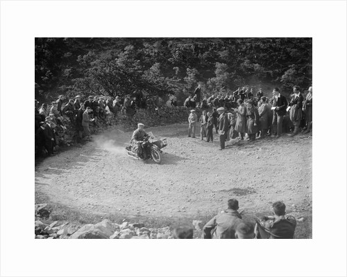 Matchless and sidecar of TJ Rose competing in the MCC Edinburgh Trial, 1930 by Bill Brunell