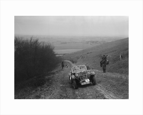 Singer 2-seater sports competing in a trial, Crowell Hill, Chinnor, Oxfordshire, 1930s by Bill Brunell