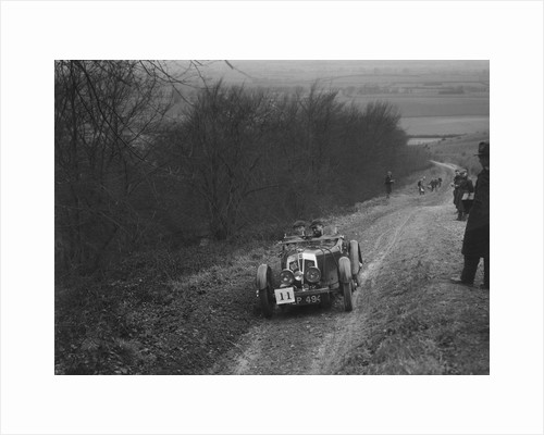 Vale Special 2-seater sports competing in a trial, Crowell Hill, Chinnor, Oxfordshire, 1930s by Bill Brunell