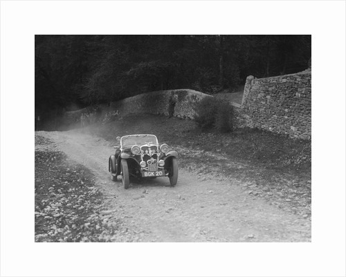 Singer 2-seater sports competing in a motoring trial, Nailsworth Ladder, Gloucestershire, 1930s. by Bill Brunell