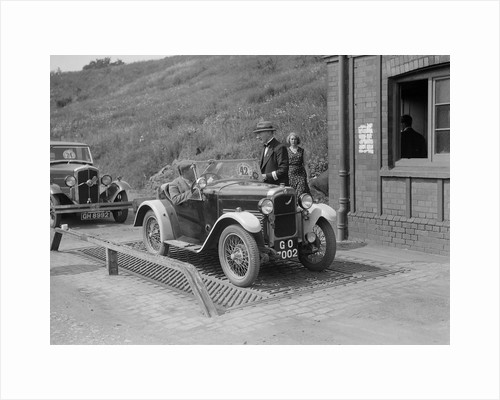 Triumph of J Wallis, winner of the Autocar Cup at the Middlesex County AC Hill Climb, c1930 by Bill Brunell