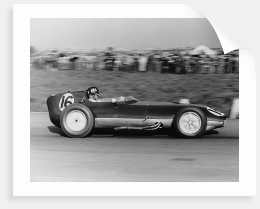 Graham Hill in a Lotus Climax by Maxwell Boyd