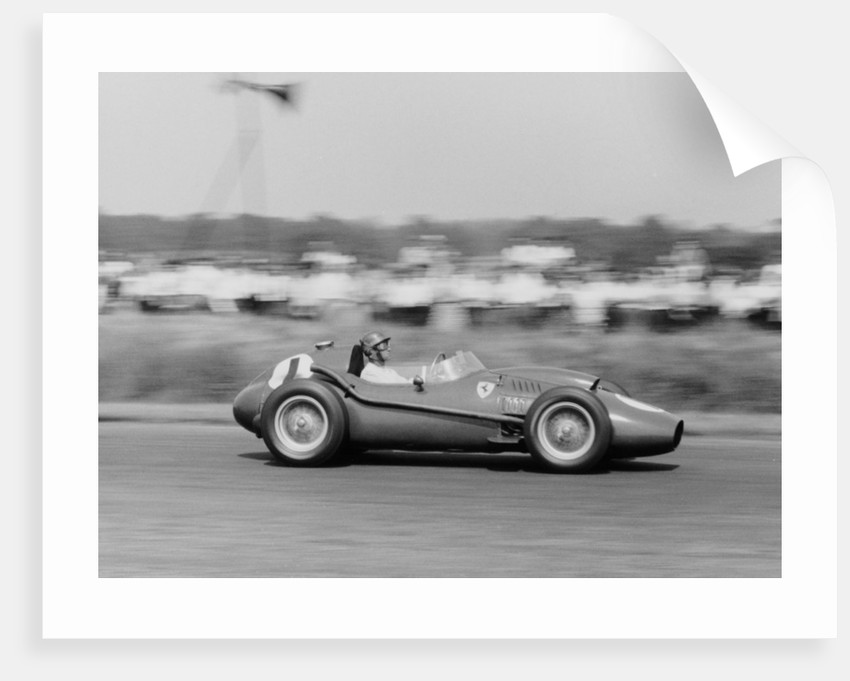 Peter Collins in a Ferrari Dino by Anonymous