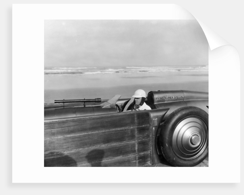 Henry Segrave driving the Golden Arrow, Daytona Beach, Florida, USA, 1929 by Unknown