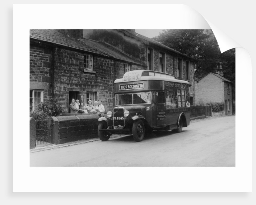1933 Bedford 2 ton WLG truck used as a travelling shop, c1933 by Unknown