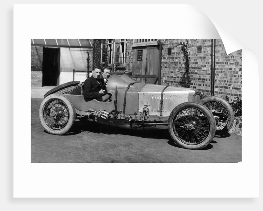 Matthew Park at the wheel of a Vauxhall 3 litre by Anonymous