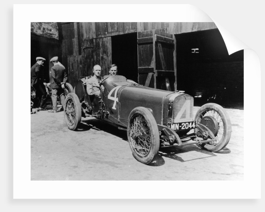 Henry Segrave in an 8 cylinder Sunbeam by Anonymous