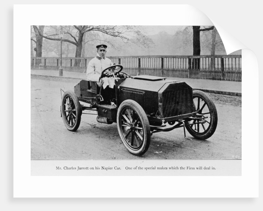 Charles Jarrott in his Napier Car by Anonymous