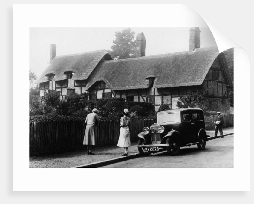1933 Triumph Super Nine Saloon at Anne Hathaway's cottage by Anonymous