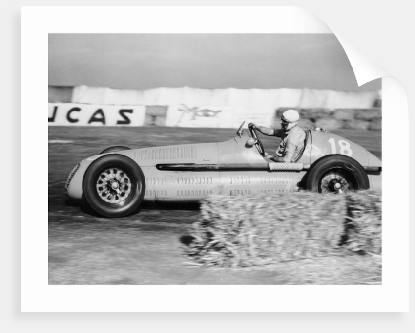 Luigi Villoresi winning the British Grand Prix by Anonymous