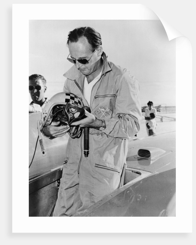 Donald Campbell at Bonneville Salt Flats by Anonymous